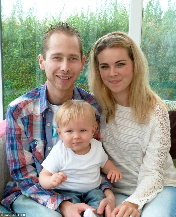 Lee Hall, 26, with wife Danyelle, 23, and son Hayden, 1.  A young dad told yesterday (Sun) how his life was saved when he received a donor's heart - which doctors kept beating by keeping the organ in a BOX.  See SWNS story SWHEART.  Lee Hall, 26, was diagnosed with heart failure aged 14 and had a mechanical pump fitted five years ago to keep the blood flowing around his body.  But when the pump cables got infected in May this year, doctors told him he needed a new heart and said he had just TWO DAYS to find one.  He was told that, if a suitable donor could not be found that weekend, he would have to go through the trauma of having another pump fitted in the meantime.  But miraculously, an opportunity arose when the heart of a patient who had died that day was offered to Lee - and he was told it could be kept beating OUTSIDE the donor's body.  The new 'heart in a box' method can revive hearts which have been dead for up to 30 minutes - and keep them alive for up to EIGHT HOURS before an operation.  It could save hundreds of lives as it DOUBLES the amount of time that hearts can be preserved outside of the body.