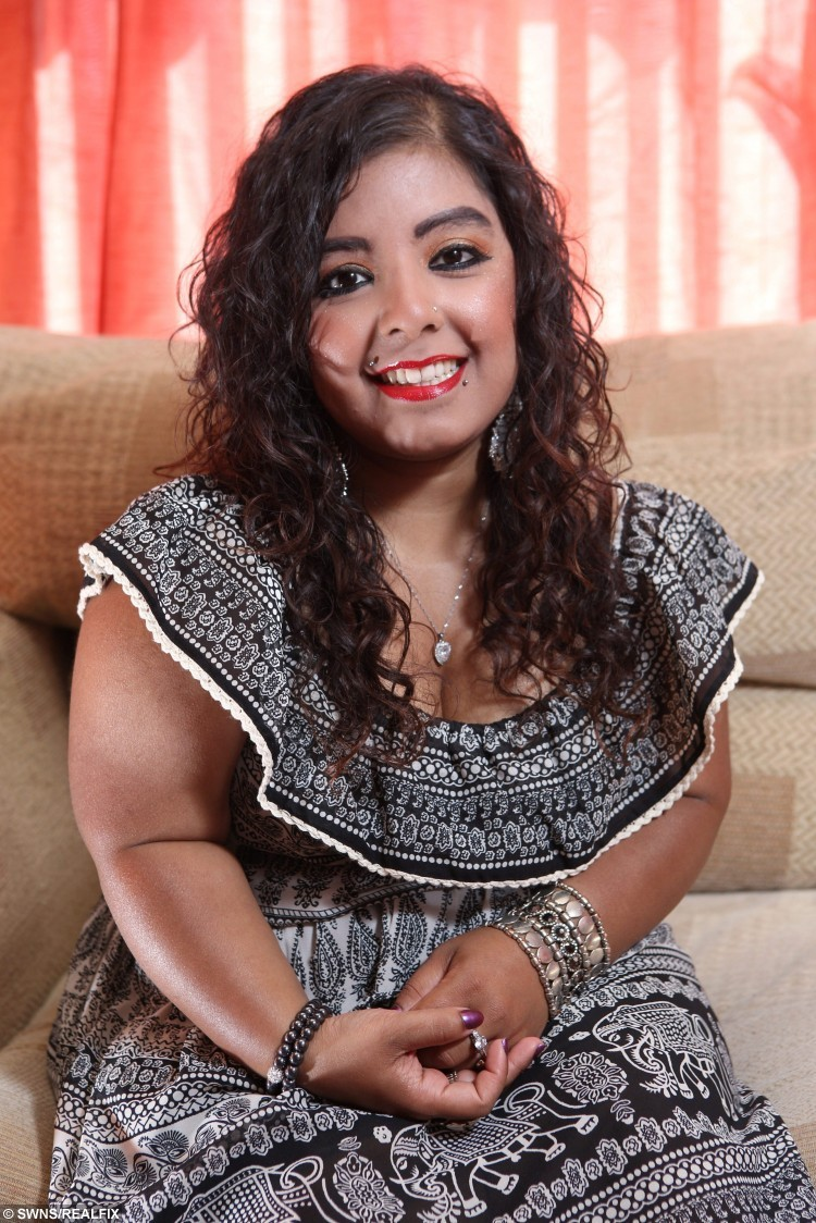Sanika Hussain, 25, pictured at her home in Bradford, West Yorkshire. See SWNS story SWDWARF; A dwarf does not feel short-changed after spending five years of her life in agony undergoing a painful procedure à that made her three-and-a-half inches TALLER. Sanika Hussain endured almost 60 months of pain and suffering in a bid to reach her dream à of being taller than FOUR FOOT SIX. The 25-year-old, who stopped growing at just under 4ft 5ins, is now proudly standing tall at a lofty 4ft 8.5ins à despite leaving her legs horrendously scarred. Sanika, from Bradford, W. Yorks, endured years of horrific taunts such as Ãfreakà and Ãmini-meà after being born with dwarfism, before finally being given the go ahead for controversial leg-lengthening procedures in 2010. The painful process, which took more than four years, has left Sanika with dozens of scars on her legs à and a huge smile on her face. She said: ÃI finally feel comfortable in my own skin.