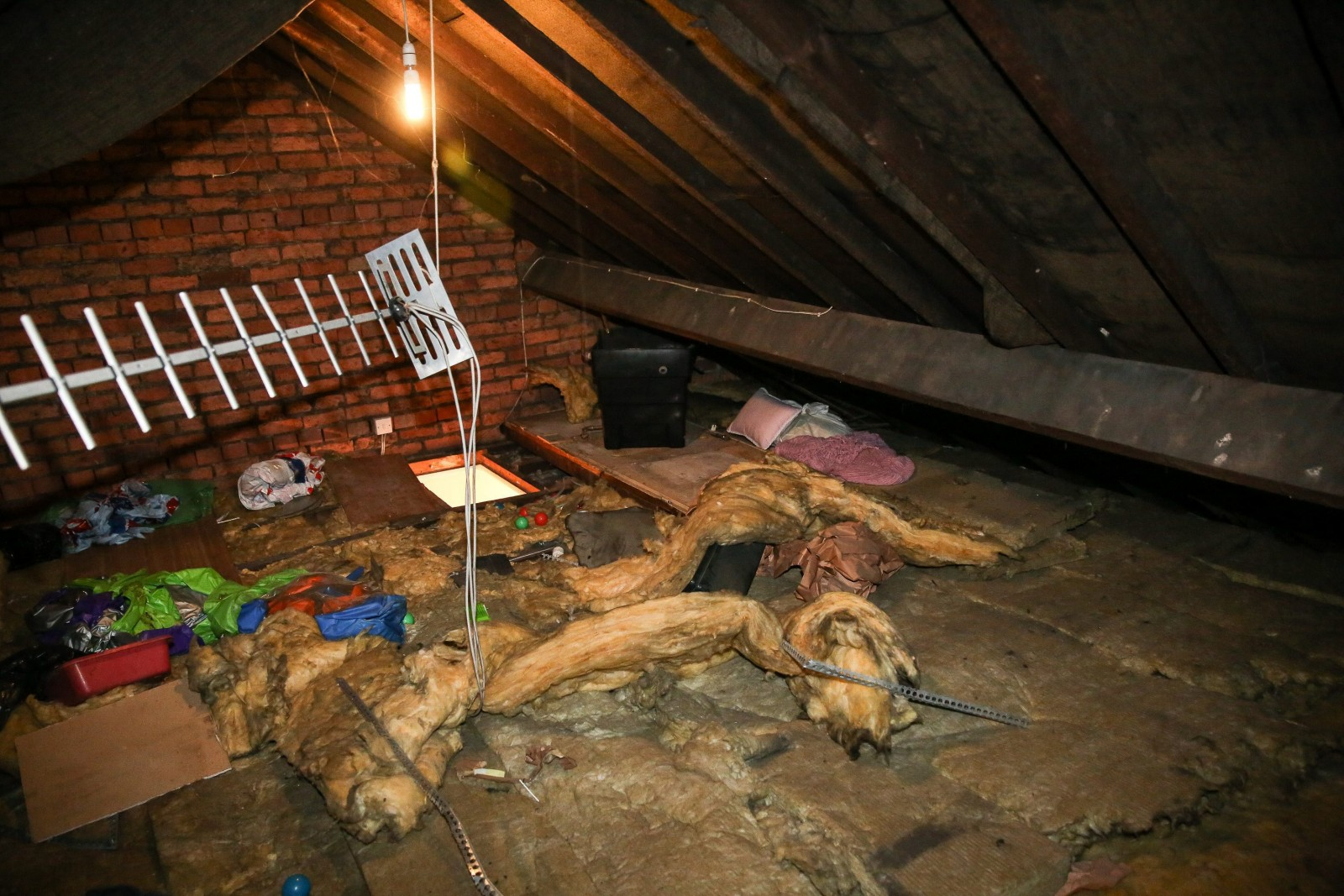 Ex-boyfriend crept into woman's house and LIVED in her ATTIC