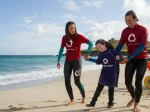 Disabled eight-year-old girl walks for the first time after taking SURFING lessons