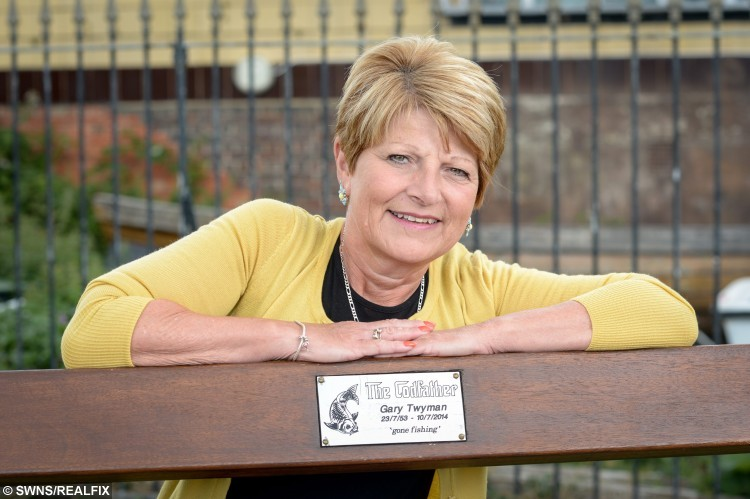 Sharon Twyman with a bench dedicated to Gary Twyman who is the late husband of Sharon Twyman who has been diagnosed with breast cancer 4 times and bowl cancer once. Gravesend, Kent. See Masons story MNFIVE; An invincible grandmother-of-eight has finally got her life back - after surviving cancer FIVE TIMES in 20 years.  Sharon Twyman, 57, was hit with her first bout of breast cancer in 1988 at only 29 years-old with three young children. She battled with life-threatening breast and bowel cancer and has watched her mum, dad and husband die quickly from the disease. Now Sharon is back to full health, aside from her right arm having less feeling due to treatment, and back at work and in remission. In total, Mrs Twyman has had one year of chemotherapy, radiotherapy every day for six and a half weeks and one breast removed.