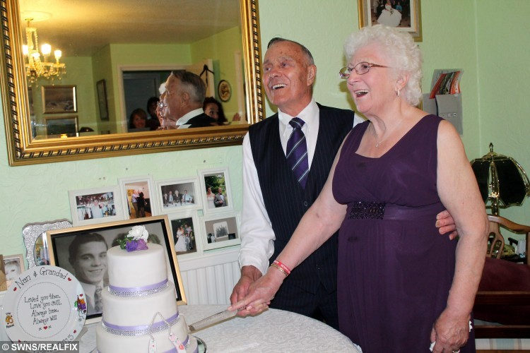 Rose and Harry Brookman have the wedding they dreamt of their whole lives at St MaryÃs Lydiard Tregoze church, Swindon. See SWNS story SWWED: An elderly couple have finally had their dream wedding almost 60 years after first tying the knot when they were too poor to do it in style. Rose Brookman, 79, had always dreamed of walking down the aisle in a white dress with childhood sweetheart Harry, 81. But they were forced to settle for a low-key event at a registry office in 1956 after Harry, one of 13 children, was told to leave home because his family was too big. By then he and Rose had been dating for seven years after meeting when they were 13 and 15 outside a cinema where their respective dates stood them both up.