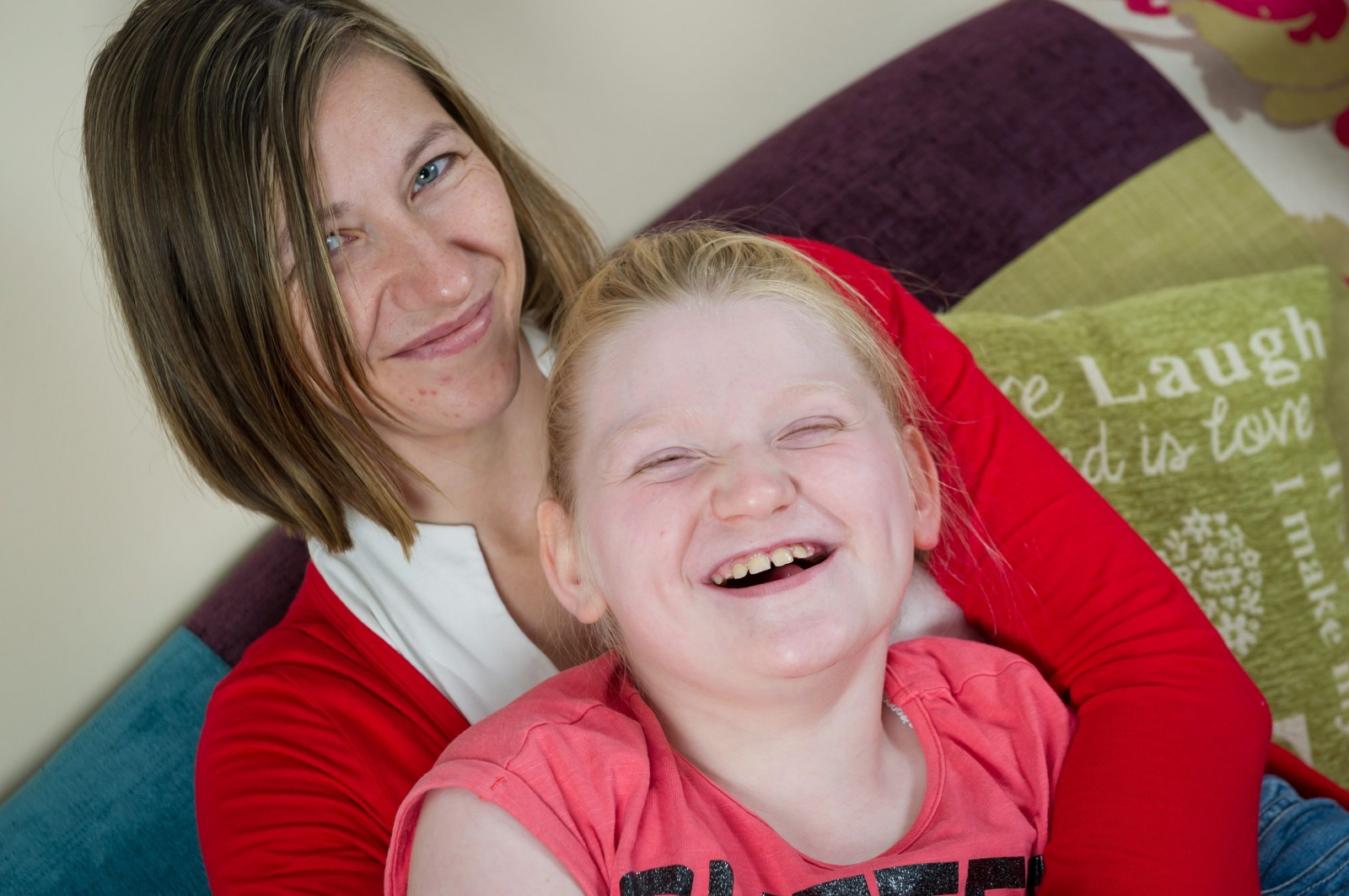 Rare genetic condition means this brave little girl never stops smiling