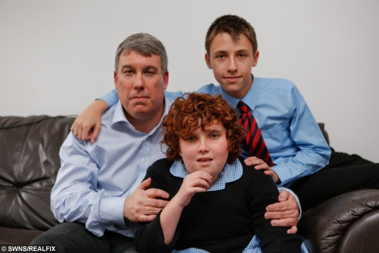 "Daniel Barnett  with son Sam, 14, and daughter Deborah, 10. A tragic mum struggling to cope with her severely autistic daughter drowned herself the day after social services told her they would not give her child residential care. See Masons story MNAUTISM. Carol Barnett, 51, took her own life by walking into a river just hours after a meeting with social services, an inquest heard. She died on June 9 this year after walking into the River Medway at East Peckham, Kent. Just minutes before she had rung her husband Daniel Barnett, 51, and told him that she could not cope anymore. Her daughter Deborah, 10, who was diagnosed with autism at 18 months old, cannot talk, is incontinent, cannot wash or dress herself and requires 24 hour care. The hearing at Maidstone, Kent, heard that social services had continually refused to send her to a residential school which would provide the constant care she needs. Speaking after the inquest Mr Barnett, 51, said he believed the meeting with social services the night before she took her own life pushed his wife over the edge. Speaking after the inquest, he said: ""Carol kept asking about residential options but the social worker kept saying no. The next morning she took her own life."