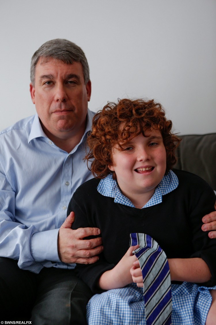 "Daniel Barnett and daughter Deborah, 10. A tragic mum struggling to cope with her severely autistic daughter drowned herself the day after social services told her they would not give her child residential care. See Masons story MNAUTISM. Carol Barnett, 51, took her own life by walking into a river just hours after a meeting with social services, an inquest heard. She died on June 9 this year after walking into the River Medway at East Peckham, Kent. Just minutes before she had rung her husband Daniel Barnett, 51, and told him that she could not cope anymore. Her daughter Deborah, 10, who was diagnosed with autism at 18 months old, cannot talk, is incontinent, cannot wash or dress herself and requires 24 hour care. The hearing at Maidstone, Kent, heard that social services had continually refused to send her to a residential school which would provide the constant care she needs. Speaking after the inquest Mr Barnett, 51, said he believed the meeting with social services the night before she took her own life pushed his wife over the edge. Speaking after the inquest, he said: ""Carol kept asking about residential options but the social worker kept saying no. The next morning she took her own life."