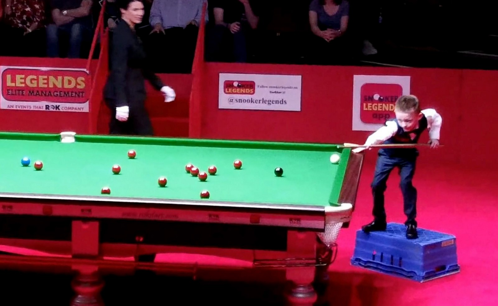 World goes snooker loopy for 8-year-old star who plays on an upturned vegetable crate!