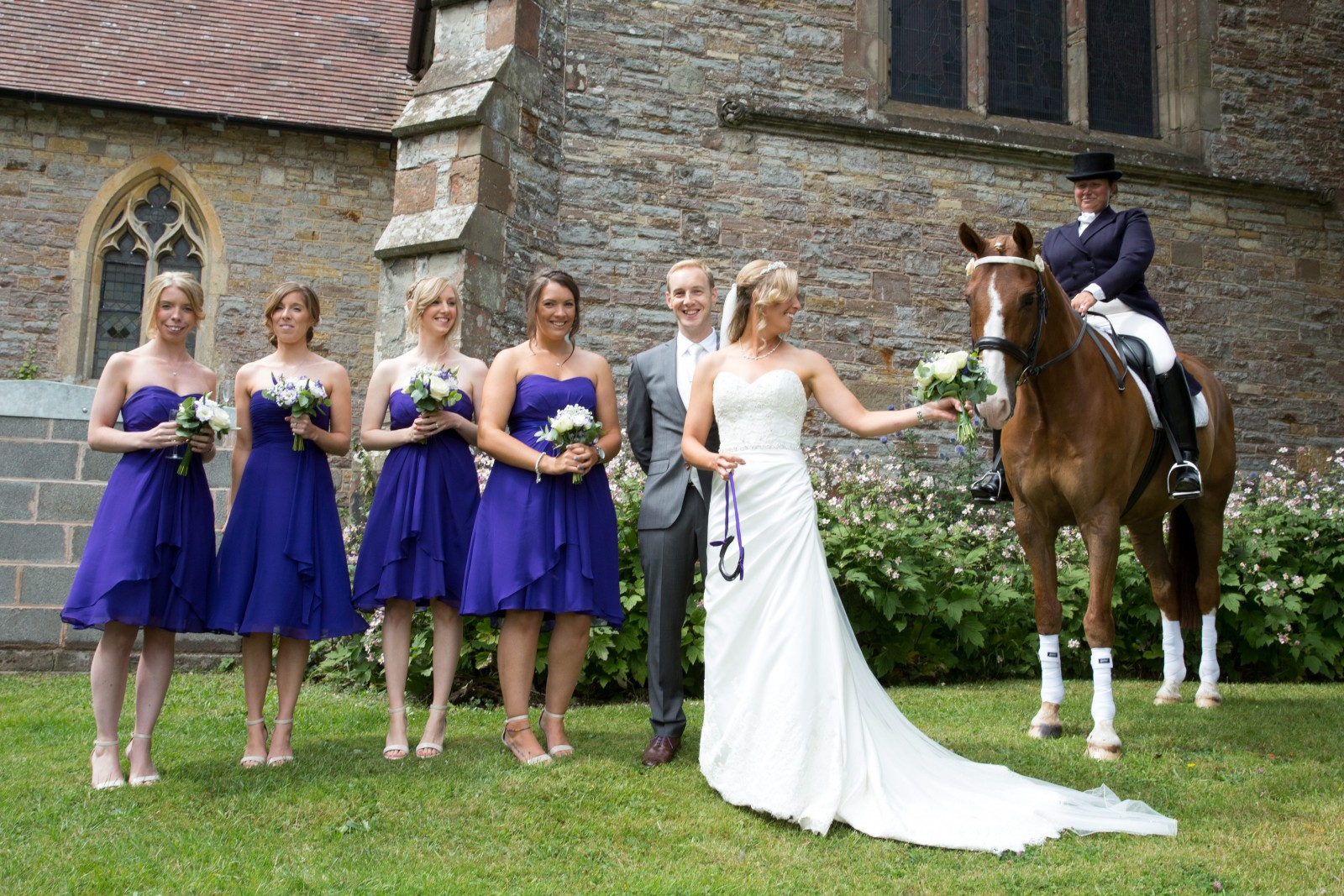 You'll want to know why there is a horse at this wedding!