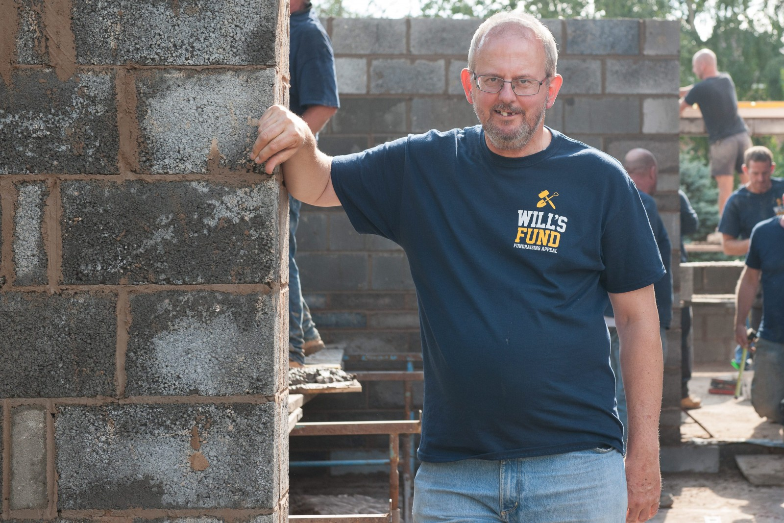 Charity fundraiser was forced to abandon work on his home – the response from his neighbours is incredible
