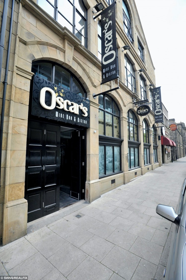 File picture of the Oscar's Wine Bar and Bistro in Lancaster. See Ross Parry copy Ross Parry copy RPYSTOMACH : A wine bar has admitted serving an 18-year-old girl a cocktail that made her STOMACH explode. Gaby Scanlon, now 20, was given the drink containing liquid nitrogen at OscarÃs Wine Bar and Bistro while out with friends in Lancaster, Lancs., in October 2012. But within hours of drinking the shot Nitro-Jagermeister, her stomach quickly began to expand and perforate. The student of Heysham, Lancs., spent three weeks in hospital as doctors removed her stomach and connected her oesophagus directly to her small bowel.