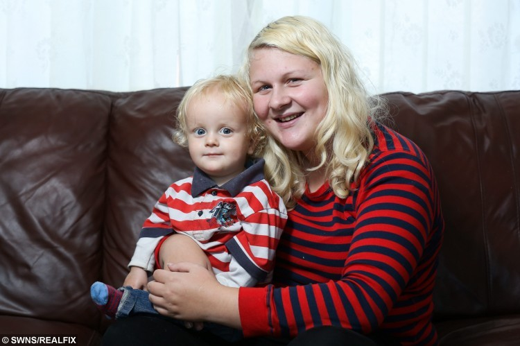 Francesca Ketley with her 16-month-old son Issac at their home in Hull, East Yorkshire. 21-year-old Francesca, who was told her young son may never walk, has been given a lifeline by a generous charity who has provided her with a special harness so he can walk on her toes. See Ross Parry copy RPYWALK. A mum who was told her young son may never walk has been given a lifeline by a generous charity who has provided her with a special harness so he can walk on her TOES. Francesca Ketley, 21, gave birth to 16-month-old Issac four weeks early and she became concerned about his developmental milestones after a few months.