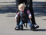 Finally little Issac can go for a walk with his mummy!