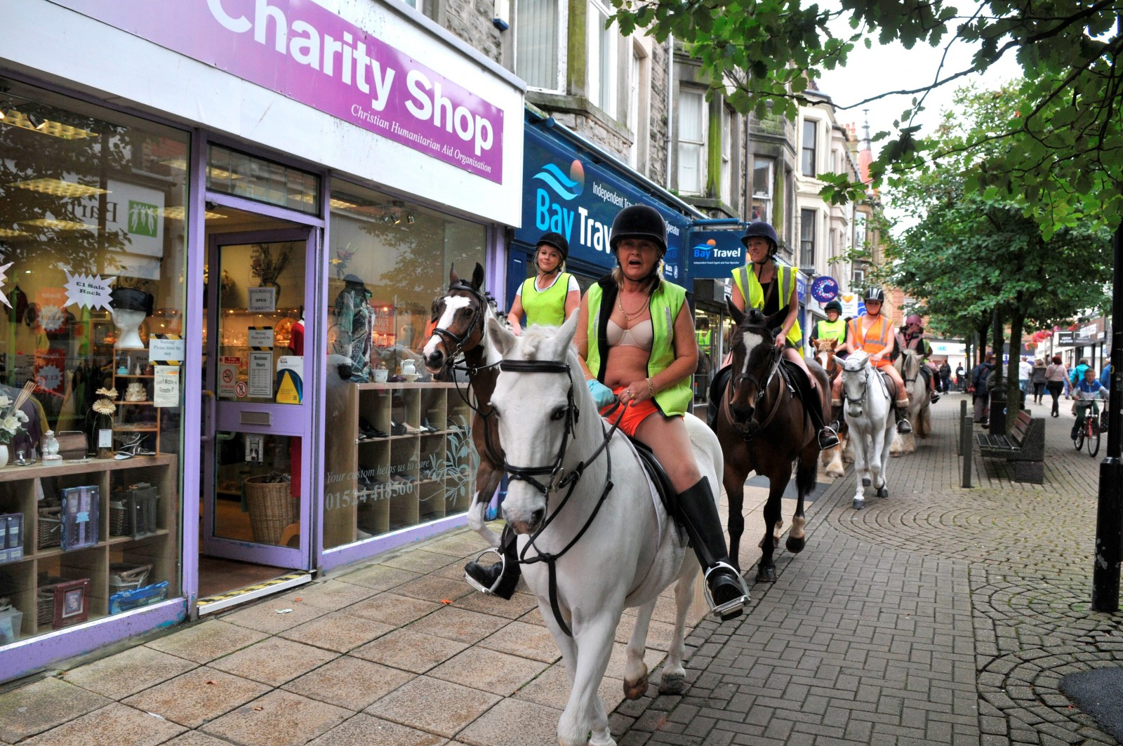 Discover why these protesters stripped off and rode down local high street