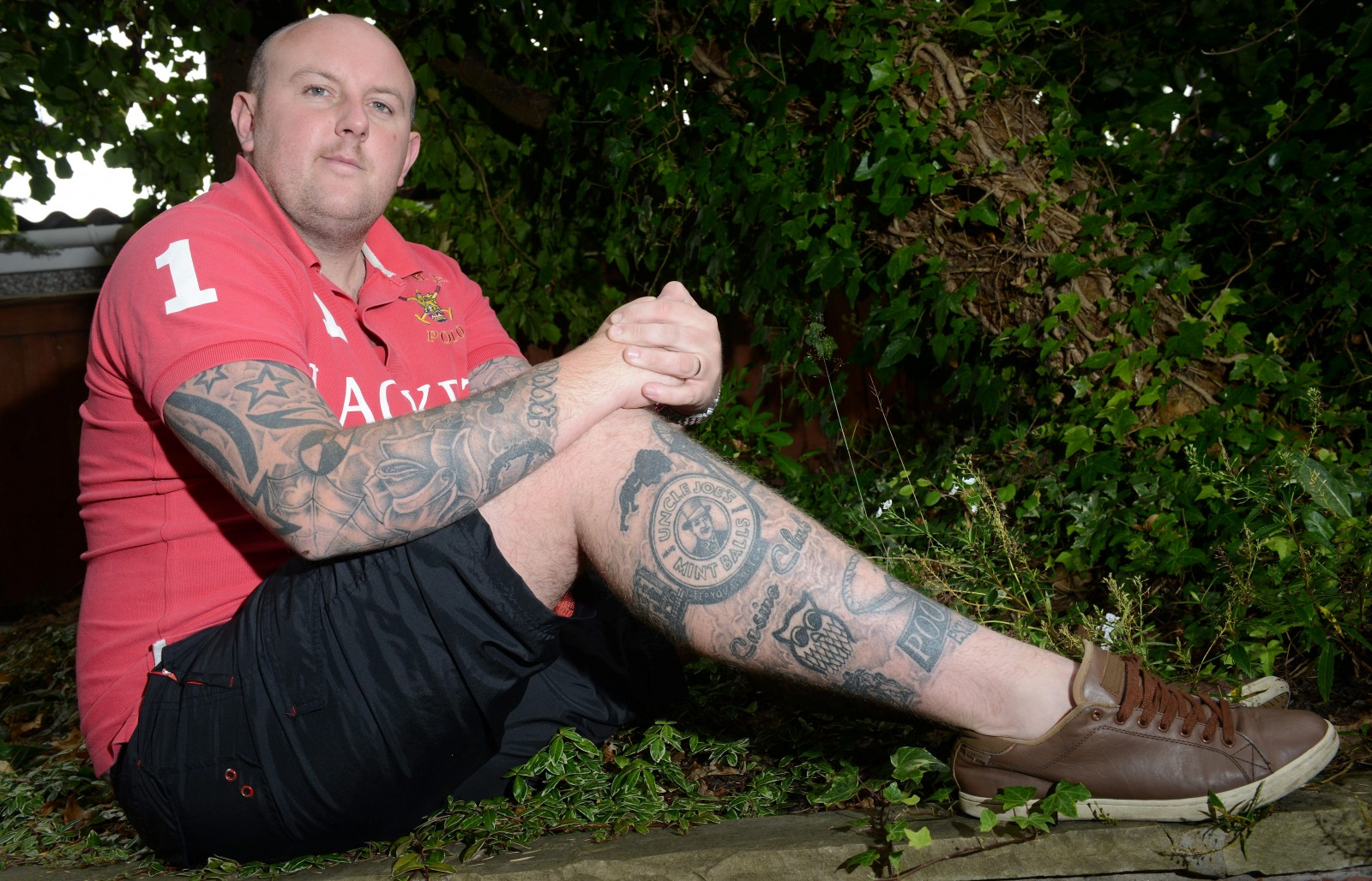 Has this man taken the love of his hometown a step too far?