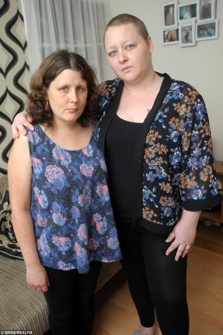 Camborne mothers Mel Bray (left) and Sam Williams who are both suffering from cancer. See SWNS story SWCANCER; Two young mums who are both dying of cancer have launched a campaign to be given a life-longing drug - so they can watch their EIGHT children grow up. Mother of three Samantha Williams, 31, and mother of five Mel Bray, 32, fear they will miss out on precious years with their children due to cuts in health funding. The pair, who have been friends since the age of 11, have now issued a desperate plea to health bosses to reverse a decision to remove 16 medicines from the list of treatments currently available. Among them is breast cancer drug Kadcyla, which has been prescribed to patients to prolong life after other drugs stop working.
