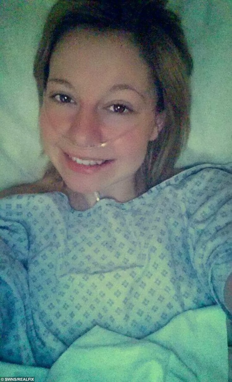 """Collect photo of brave Abi Rounds pictured at the start of her battle with cancer. See SWNS story SWVIDEO; A young mum who was diagnosed with breast cancer aged just 22 broke the news to her family and friends - via a viral FACEBOOK video. Brave Abi Rounds, now 23, feared the worst when doctors told her she had two cancerous lumps last year but quickly decided she would """"kick cancer's butt"""". The stunning mum - who had watched her own mother and aunt fight the disease - was shocked by the diagnosis but wanted to let all her friends know at the same time. She made an online video breaking the devastating news to her pals, but vowing to do everything it takes to beat the disease with the support of her friends and family"""