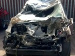 Pregnant woman survives horror smash where her car rolled SIX times