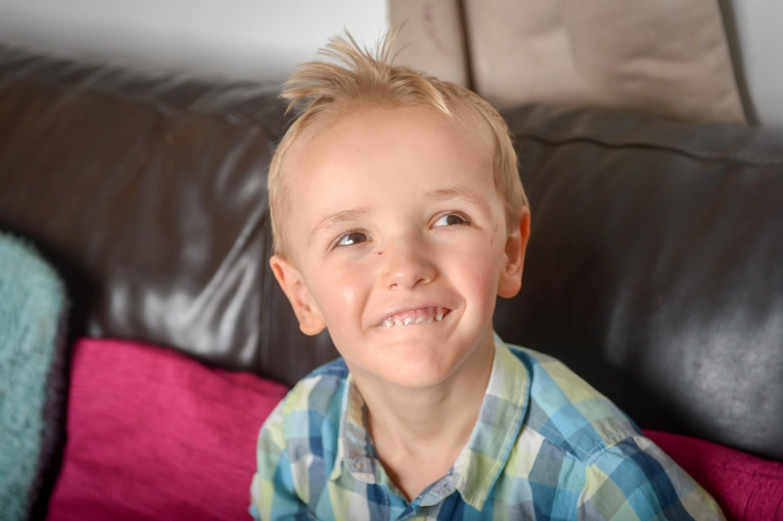 The three-year-old boy who is already FOUR-FEET tall!