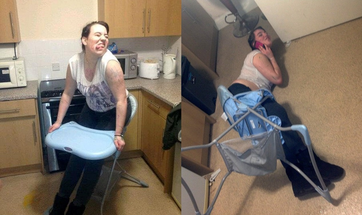 Call 999! Teenager Stuck In Baby's High Chair