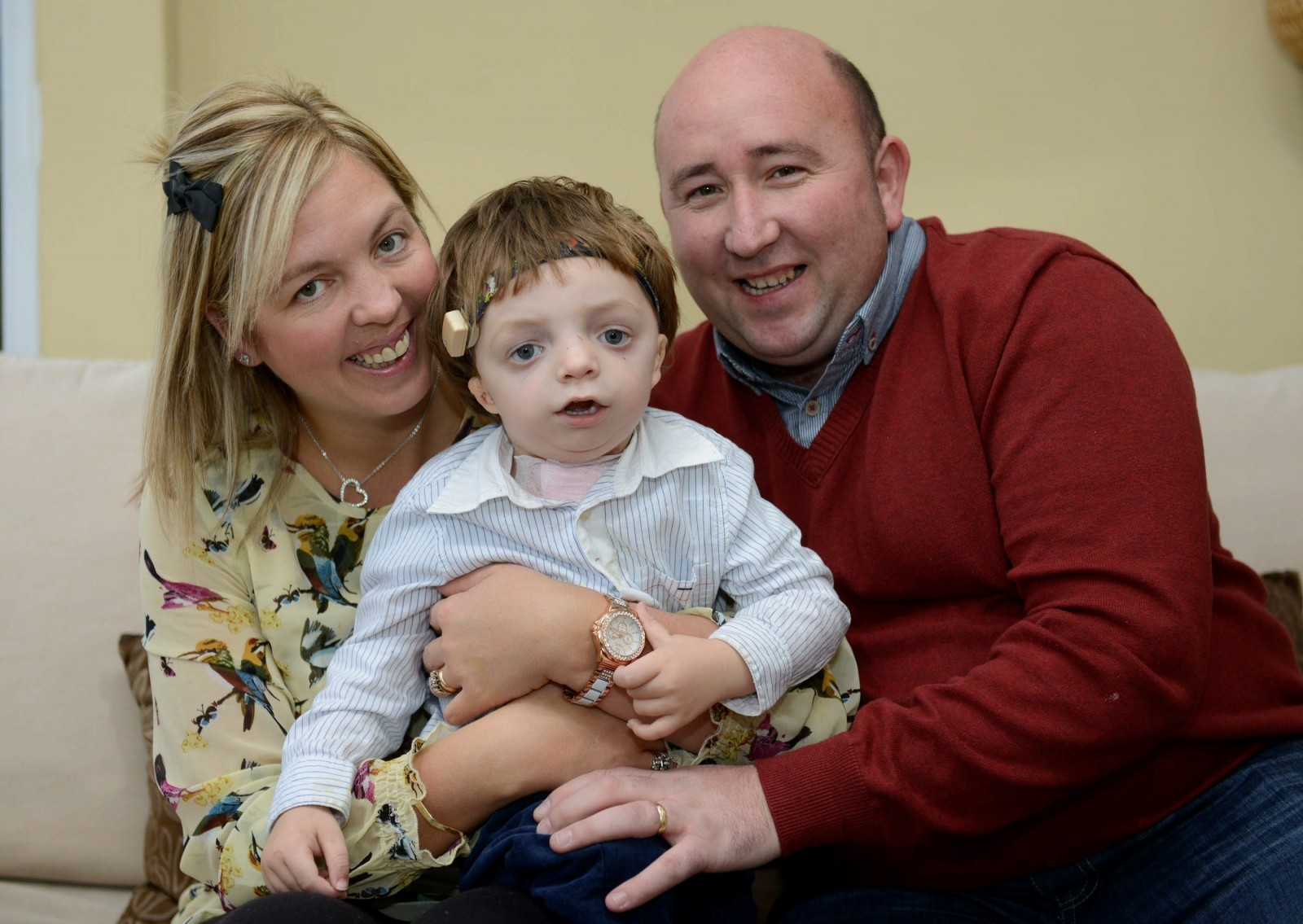 A couple have been given the perfect present after hearing their son talk for the first time
