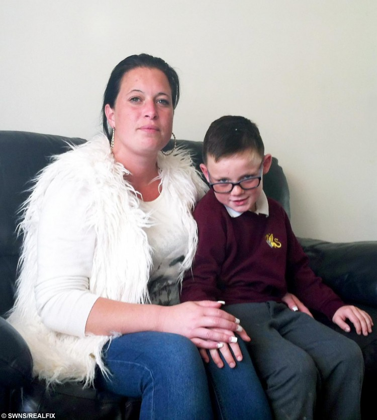 Charlotte Bye and son George.  A mother has slammed a bus company after it refused to take her disabled and special needs son to school because of his poor behaviour.  See MASONS story MNBUS.  Charlotte Bye, 28, received an email telling her George, seven, could no longer catch the bus after a spate of bad behaviour.  The mum-of-two made George apologise to the bus driver employed by AMB Travel, which runs the service to Wyvern School in Great Chary for Kent County Council (KCC).  But she was shocked when the company still refused to allow George, who has chronic lung disease and special needs after being born premature at 27 weeks, back on.  Charlotte, from Stanhope, Kent, claims two days of walking to school in the cold this week have led to George feeling ill in his chest and he had to miss school on Wednesday.