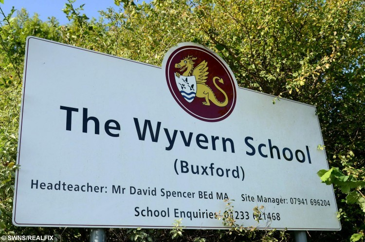The Wyvern School, Ashford.  A mother has slammed a bus company after it refused to take her disabled and special needs son to school because of his poor behaviour.  See MASONS story MNBUS.  Charlotte Bye, 28, received an email telling her George, seven, could no longer catch the bus after a spate of bad behaviour.  The mum-of-two made George apologise to the bus driver employed by AMB Travel, which runs the service to Wyvern School in Great Chary for Kent County Council (KCC).  But she was shocked when the company still refused to allow George, who has chronic lung disease and special needs after being born premature at 27 weeks, back on.  Charlotte, from Stanhope, Kent, claims two days of walking to school in the cold this week have led to George feeling ill in his chest and he had to miss school on Wednesday.