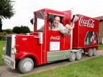 Pensioner transforms his mobility scooter into the Christmas Coca-Cola truck!