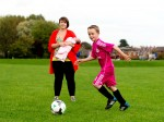 Pregnant mum goes into labour while celebrating son's first ever goal!