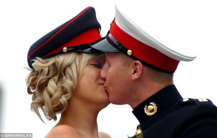 The wedding of David OÃSullivan (40th Commando Royal Marines) and Tracey Mountford at Hanley Registry Office, Stoke-On-Trent.  The wedding was three days before David left to reach his barracks before a six-month stint in Afghanistan.  The parents of a 'hero' Royal Marine Commando who died of a drugs overdose are calling on military chiefs to provide more support for soldiers suffering from post traumatic stress disorder.  See NTI story NTIMARINE.  Twenty-five-year-old Marine David O'Sullivan turned to heroin after struggling with the horrors he experienced on a six-month tour of Afghanistan à including witnessing the deaths of two comrades.  An inquest into his death heard over the next two years he would suffer from a short temper, lack of sleep and recurring nightmares where he would wake up 'smelling blood'. Marine David, of Abbey Hulton, was finally formally diagnosed with PTSD just three days before he took a fatal dose of heroin while on leave.  Now coroner Ian Smith has criticised the Royal Navy for a 'number of failings' which meant David did not receive the medical support he desperately needed à and his devastated family now want more help for service personnel.