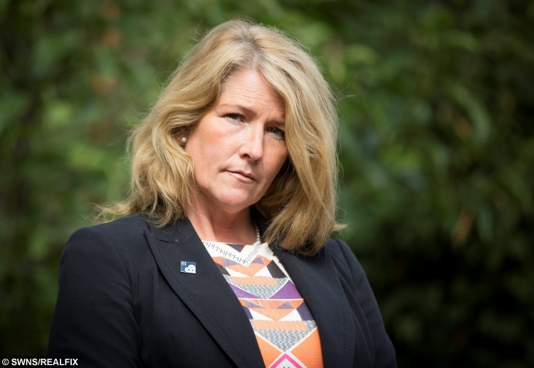 """FILE PICTURE - Linked to todays story NTISCAM, October 9, 2015, about how Matthew Samuels has been found guilty at Worcester Crown Court. Caroline Morris, ex-wife of scammer Matthew Samuels, at her home in Lichfield, Staffs. September 17 2015.  See NTI story NTISCAM.  A man accused of conning a string of women out of more than Ã180,000 in an internet lonely hearts scam left his wife bankrupt, a court has heard.  Matthew Samuels told women he met on dating websites he was """"one of the richest men in the UK"""", a jury at Worcester Crown Court heard.  The 50-year-old from Worcester was adept at juggling relationships to obtain money, the prosecution said.  An alleged victim was an elderly widow. Mr Samuels denies 11 fraud charges.  Mr Samuels' ex-wife, Caroline Morris, from Lichfield, Staffordshire, told the court he ran up debts of Ã150,000 in her name."""
