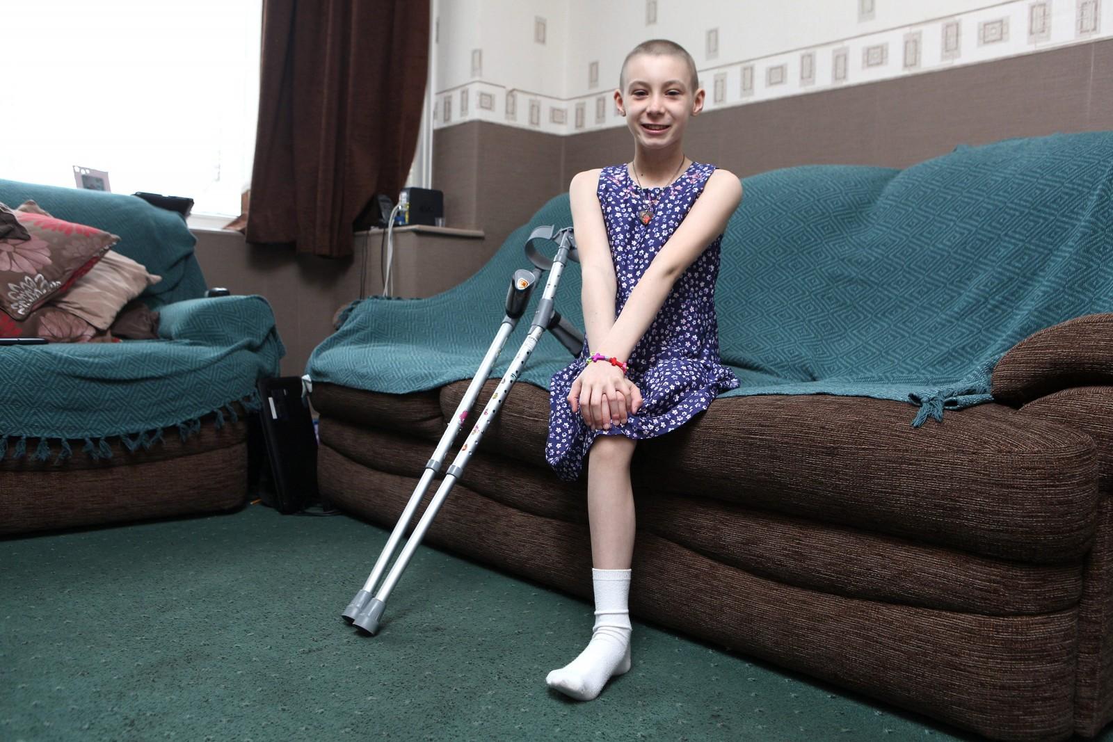 Brave 'ballerina girl' still smiling after rare bone cancer forces leg amputation