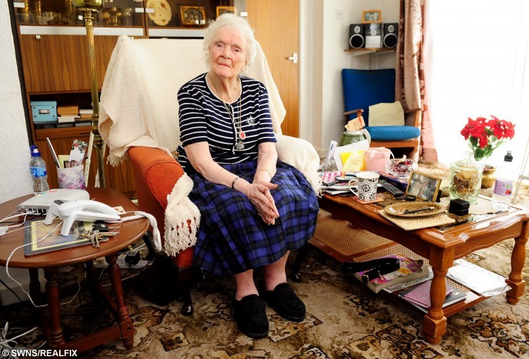 101 year old Laura Judge, from Kirk Smeaton, North Yorkshire, who was robbed of tens of thousands of pounds by her niece Jean Kelly. See Ross Parry copy RPYJUDGE: A vile niece who stole Ã36,500 from her 101-year-old aunt and left her begging for help from other family members has been jailed. Callous Jean Kelly, 62, plundered the bank account of her elderly aunt Laura Judge for six years, while other family members thought she was caring for their aunt. Mrs Judge had been due to attend the sentence via a live video link from Wakefield Crown Court; however Recorder of York Judge Stephen Ashurst explained that she had been taken ill and was no longer able to make the journey.