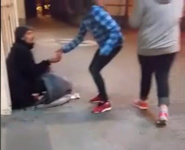 Three teenage girls do something REMARKABLE for homeless man