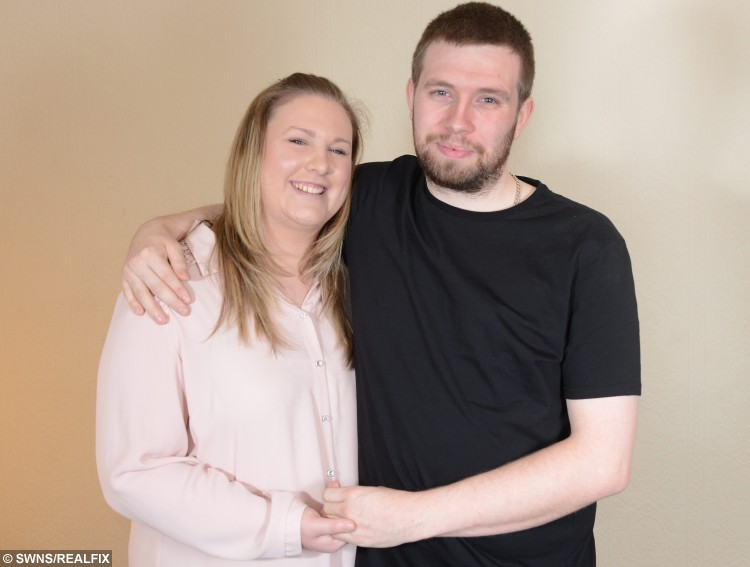 Evelyn Robinson and Jack Buckley from Rawtenstall, Lancs., See Ross Parry Copy RPYPROPOSE : After Jack Buckley woke up following a major organ donation operation, his worried girlfriend Evelyn Robinson rushed to his bedside. But she was in for the shock of her life when just minutes after coming round from the operation to remove two-thirds of his liver, her boyfriend asked her to marry him.
