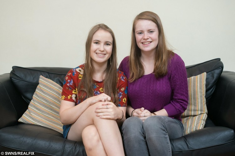 Alice Byron, 20, (left) poses for a portrait with her sister Izzy Byron, 15, (right) where she lives in Cardiff, Wales. October 22 2015. Alice, an English Literature student at Cardiff University from Oxfordshire suffers from a rare blood disorder and needs a bone marrow transplant. See SWNS story SWMARROW; A student with a rare blood disorder is hunting for a bone marrow donor match among fellow undergraduates - before she develops LEUKAEMIA. The fate of Alice Byron, 20, now lies in the hands of a complete stranger after she was diagnosed with the illness that causes a drop in healthy blood cells. Despite none of her family being a match, medics have told the third year student that her one of her peers at Cardiff University could give her a life-saving bone marrow transplant. Now she is appealing for help from fellow undergraduates who are more likely to be a match.