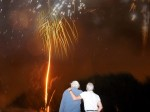 Husband spreads wife's ashes in the sky in the form of FIREWORKS