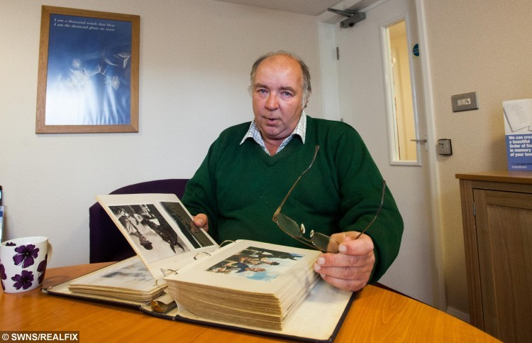 Tim Keat from Bodmin, Cornwall, the son of Frank Keat looks at memories of his father in a photo album. 28/10/2015.  Caring nurses at Bodmin Hospital in Cornwall granted a man his dying wish when they arranged for his favourite horse to visit him days before he passed away. See swns story SWHORSE. Cancer patient Frank Keat died peacefully on Monday (26th Oct) night but, last Friday, to his great surprise, his ?ve-year-old horse, Early Morn, appeared on the patio outside his hospital ward. Staff nurse Samantha Russell said it was an emotional time for everyone. ÃI can honestly say that this is the most memorable day of my career. The emotion was overwhelming and there wasn't a dry eye on the ward,Ã she said. ÃEarly Mom is a horse that Frank broke himself and he so wanted to see him again. ÃSadly, he was not well enough to visit the stable, so the nursing team came up with the fantastic idea of arranging for his horse to be brought to the hospital without him knowing. ÃWe wheeled his bed out on to the patio where he was greeted by his beautiful horse. ÃFrank was just overwhelmed and speechless.Ã Tim Keat from Bodmin, Cornwall, the son of Frank Keat looks at memories of his father in a photo album. 28/10/2015.  Caring nurses at Bodmin Hospital in Cornwall granted a man his dying wish when they arranged for his favourite horse to visit him days before he passed away. See swns story SWHORSE. Cancer patient Frank Keat died peacefully on Monday (26th Oct) night but, last Friday, to his great surprise, his Ãve-year-old horse, Early Morn, appeared on the patio outside his hospital ward. Staff nurse Samantha Russell said it was an emotional time for everyone. ÃI can honestly say that this is the most memorable day of my career. The emotion was overwhelming and there wasn't a dry eye on the ward,Ã she said. ÃEarly Mom is a horse that Frank broke himself and he so wanted to see him again. ÃSadly, he was not well enough to visit the stable, so the nursing team came up with the fantastic idea of arranging for his horse to be brought to the hospital without him knowing. ÃWe wheeled his bed out on to the patio where he was greeted by his beautiful horse. ÃFrank was just overwhelmed and speechless.Ã
