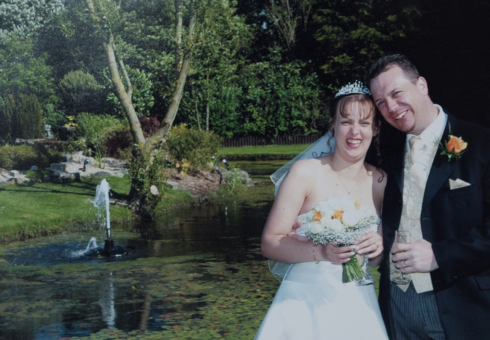 Collect picture. Liz Linham and Adrian Linham at their wedding in May 2007 at Weston Super Mare,Somerset England. Linham's ex husband Adrian Linham, 43, has been sentenced for bigamy after running away to get married. See SWNS story SWRAT: A love rat bigamist jetted out to Mexico to marry his second wife on the same beach where he honeymooned with the first - and she only found out about it on FACEBOOK. Callous Adrian Linham, 43, secretly dated Hayley Totterdell for three years while his loyal wife of seven years Liz, 37, thought their marriage was running smoothly. He frequently told Liz he was going to Bangor, south Wales, to work for weeks at a time - but was actually living just 16 miles away with Hayley. Then he secretly flew out to a paradise beach to wed Hayley in front of her family and friends - who were all blissfully unaware he was already married.