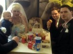 These newlyweds are LOVIN' IT after stopping at McDonald's for wedding breakfast