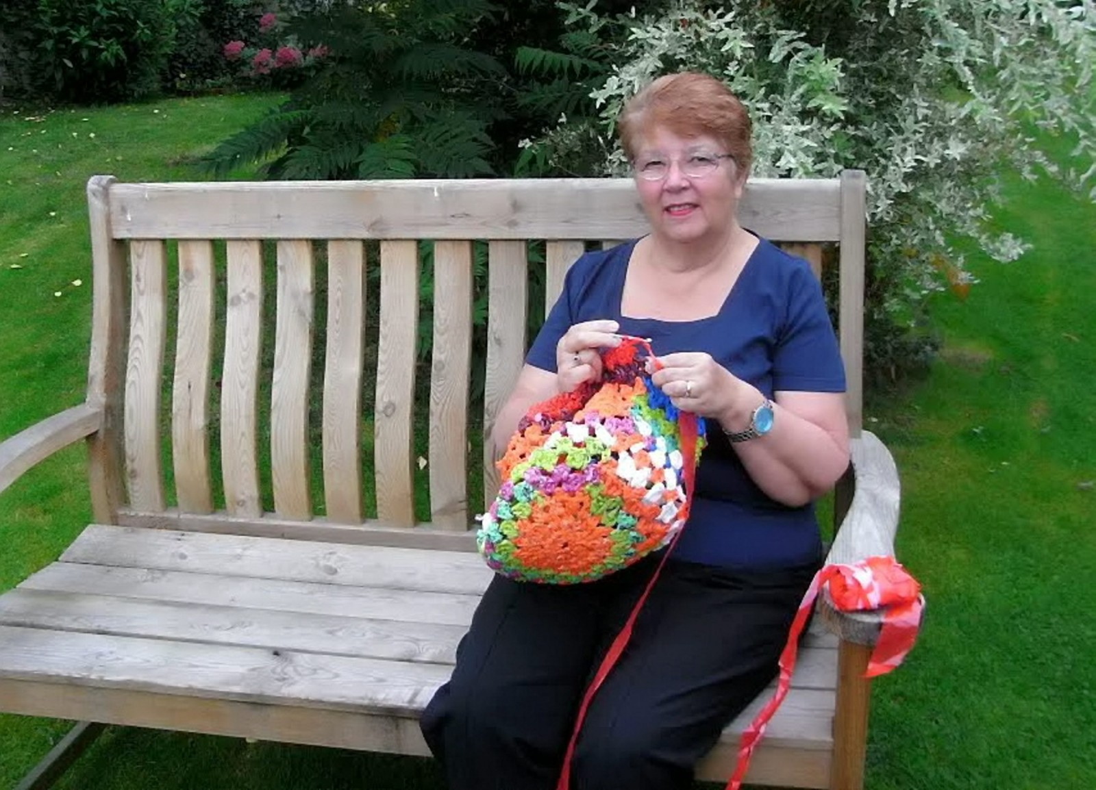This granny has found a novel way of avoiding the 5p plastic bag charge!