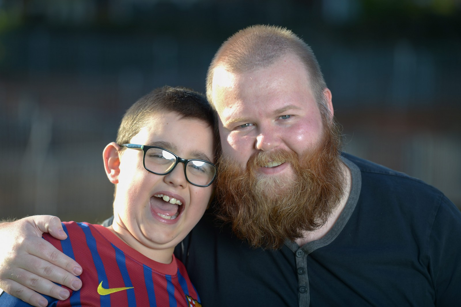 Dad attempts year-long beard challenge because its makes his autistic son laugh