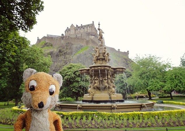 Outside the historic Edinburgh Castle