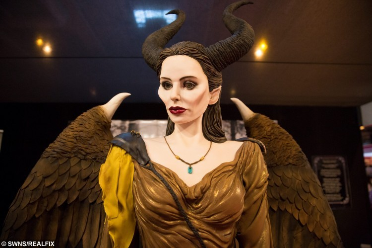A 6 foot tall Maleficent themed cake exhibit on display at the Cake International show at the NEC, Birmingham. November 6 2015.  See NTI story NTICAKE.