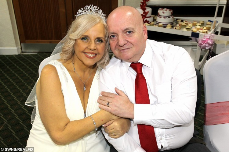 Tragic bride Lorraine Green and bridegroom Shane Green on the day they married - with Lorraine only having weeks left to live. See News Team story NTIBRIDE: A tragic bride has fulfilled her dying wish and tied the knot with her husband - just days after doctors diagnosed her with terminal cancer and said she had weeks to live. Lorraine Marsh, 53, was going to wed her sweetheart Shane Green, 54, next summer, but when she visited the doctors last Friday (13/11) they told her she was dying. Brave Lorraine thought she was just going to get gallstones removed, but medics said she had pancreatic cancer that had spread to her liver. But friends and family rallied around to donate Ã2,300 to the couple and even gave Lorraine a wedding dress when they brought their wedding forward to Friday (20/11).