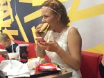 Bride takes wedding guests to McDonald's after groom goes on his stag do minutes after tying the knot!