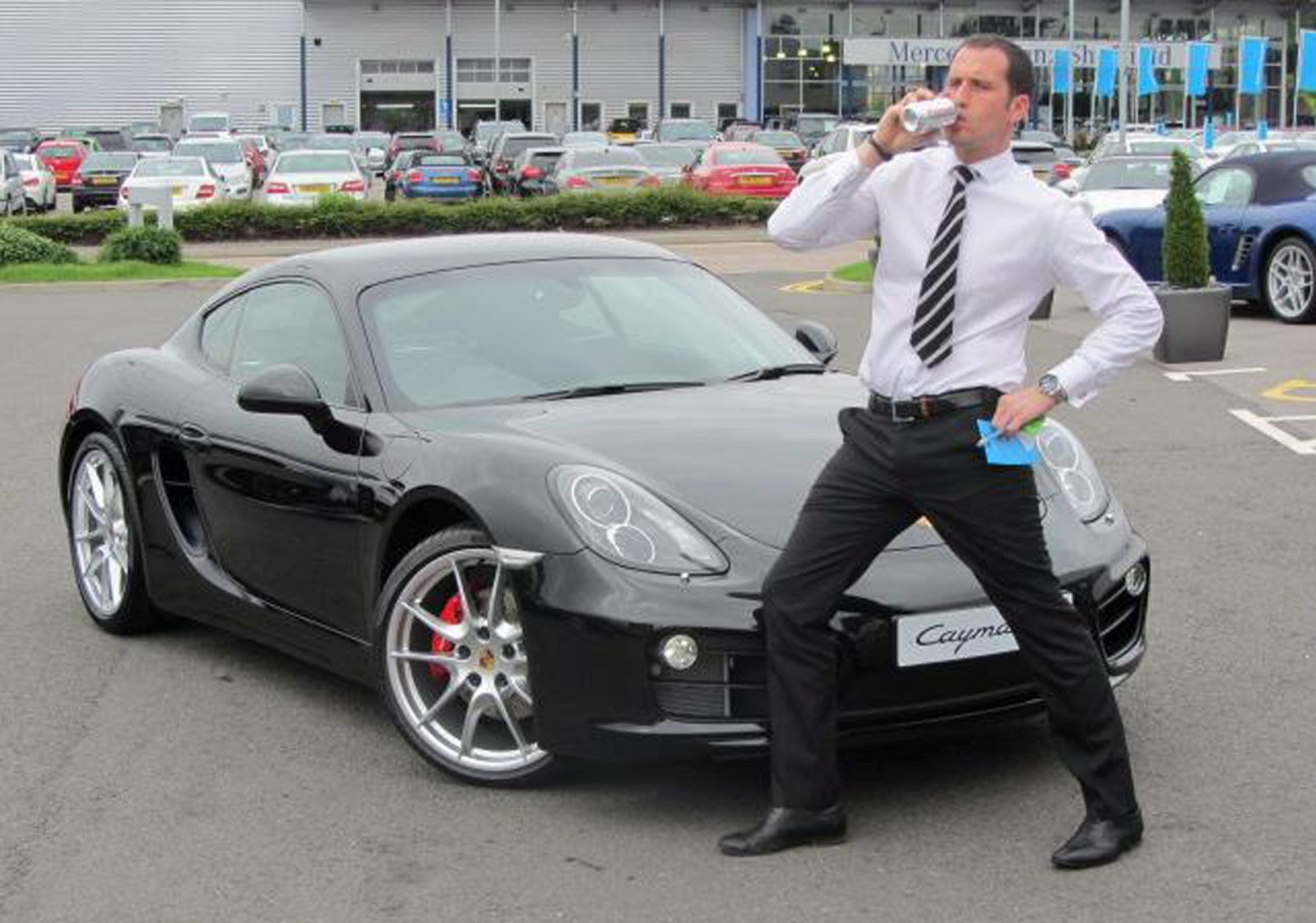 Porsche salesman who crashed into two teens is released from jail after just four months