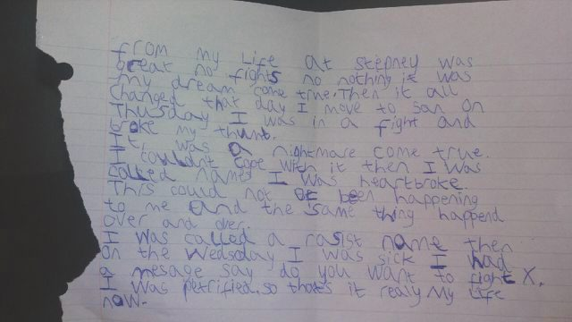 Mum shares son's heartbreaking note about his bullying 'nightmare'