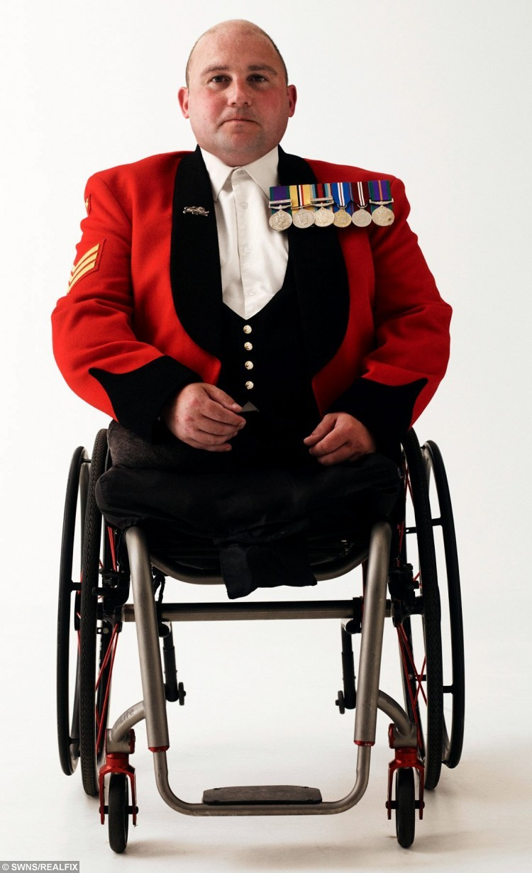 War hero Rick Clement who lost both legs when he stepped on a bomb in Afghanistan showed British Bulldog fighting spirit after defying the odds to walk again. See Ross Parry copy RPYREBUILD : Sgt Rick Clement lost both his legs, suffered horrendous internal injuries that mean he can never become a dad, and almost lost his right arm when the Taliban bomb exploded five years ago.  Now his gruelling journey, which saw him lay a wreath unaided on Remembrance Sunday, will be told in an hour-long documentary today (Mon). Speaking after his incredible feat on Remembrance Sunday, Rick, of Blackpool, Lancs., said: ÃToday has been very emotional and thereÃs been lots of difficult moments along the way but I never had any doubts I would do it because IÃd set my mind on it. But today is not about me it is about people coming together to remember those we have lost, those that fought and those that are still fighting for our country.Ã