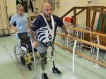 War hero who lost both legs in bomb blast defies the odds to walk again