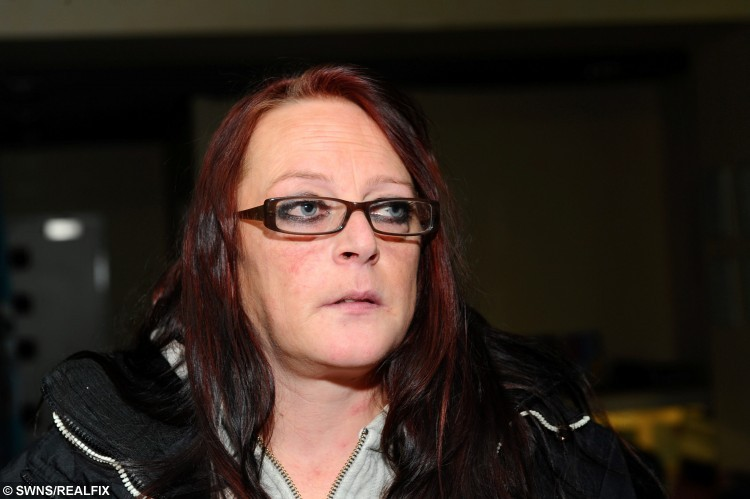 """Leah-Ann Stones who lived in constant fear of her violent partner who hit and strangled her has told how she paid him #15 to stop him beating her. See Ross Parry copy RPYHIT : Leah Annstones, 38, of Hull, East Yorkshire who has been living in constant fear after she was beaten and strangled by Timothy Keenan in a fit of drunken rage. He unleashed his anger when she refused to kiss him, beating her so badly blood """"dripped"""" onto her and a police officer was """"shocked"""" by her appearance. Ms Annstones says it was one in a string of violent outbursts by Keenan. She suffered a perforated eardrum after he beat her while drunk and she says he broke her wrist by smashing it through a glass table. Ms Annestones said: """"He's been done for beating me before but this time, he's going to find me and this time, he's going to kill me."""