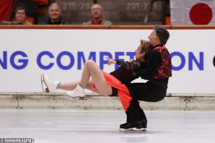 David and Pat Arnold while performing at International Adult Ice Skating Competition in Oberstdorf, Germany in 2015. See Ross Parry copy RPYICE : A couple have proved those who skate together stay together after becoming the UKÃs oldest figure skaters following nearly 30 years of marriage. David and Pat Arnold first locked eyes over the ice back in 1984 and their love of skating has kept them solid ever since.  Their passion for one another mean theyÃre a success on and off the rink and have been crowned international adult elite champions for the past five years. David, 62, said: ÃOur love of skating makes our marriage really special. ItÃs a really unique kind of relationship. ÃBeing married helps us to compete because itÃs easier to skate as a couple. You donÃt have to act because it comes naturally